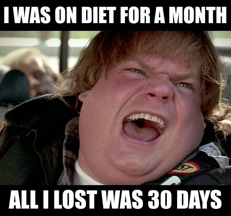 30 day diet plan was not a success.