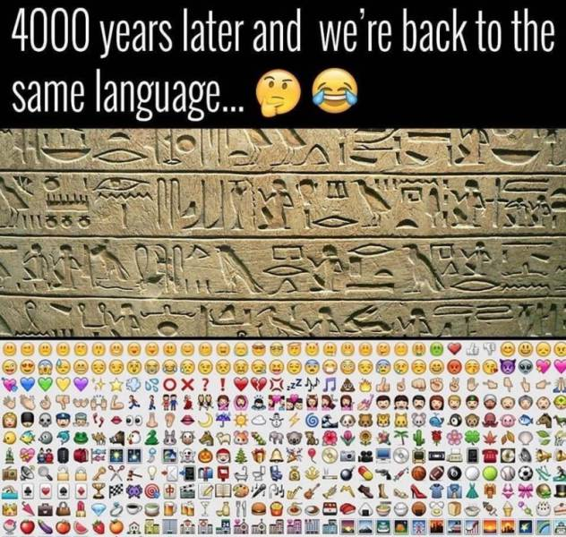4,000 years later and we're back to the same language.