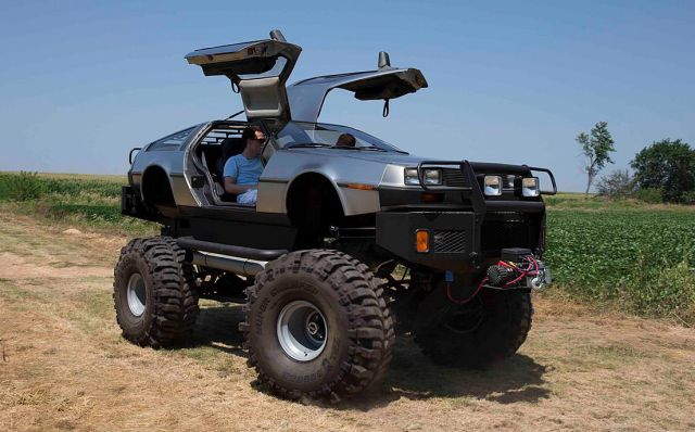 4x4 DeLorean is sure to turn heads on the trail.