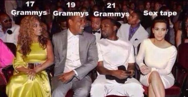 57 Combined Grammy Awards and 1 Sex Tape.