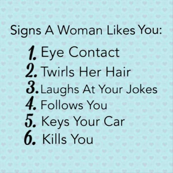 6 signs a woman likes you.