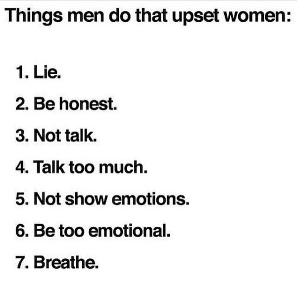 7 things men do that upset women.