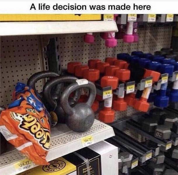 A life decision was made here.