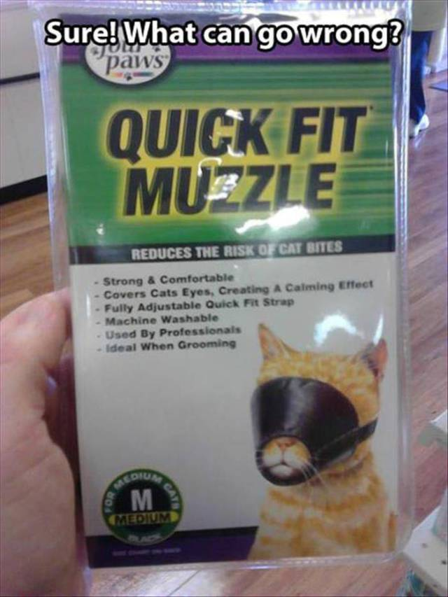 A muzzle for your cat. Good luck with that.
