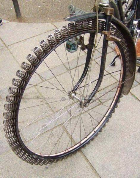 Add suspension to your vintage bicycle.