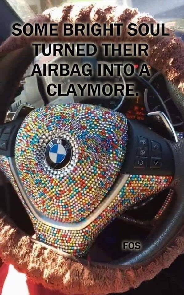 Airbag decorations are a bad idea.
