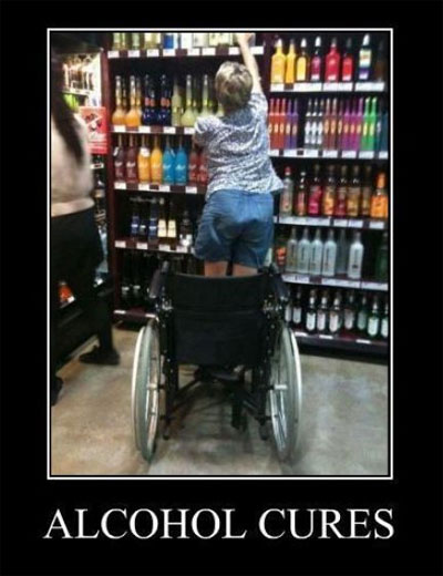 Alcohol can cause many problems in your life but for this woman it is a miracle worker.