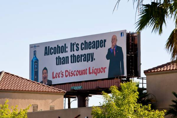 Alcohol: It's cheaper than therapy.