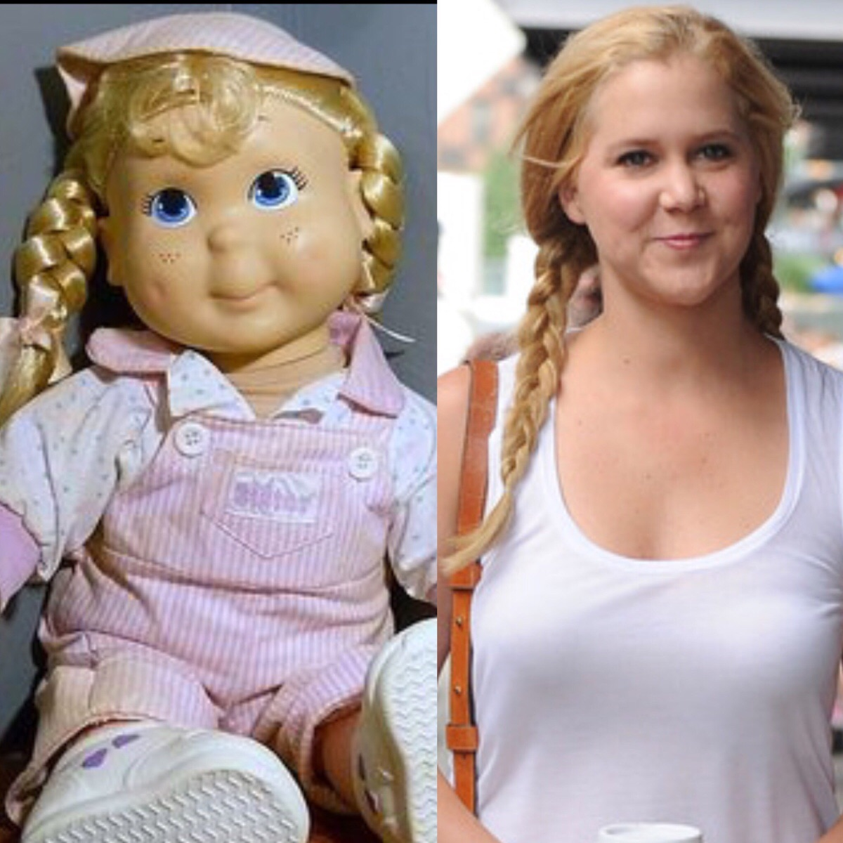 Amy Schumer looks just like a Kid Sister doll.