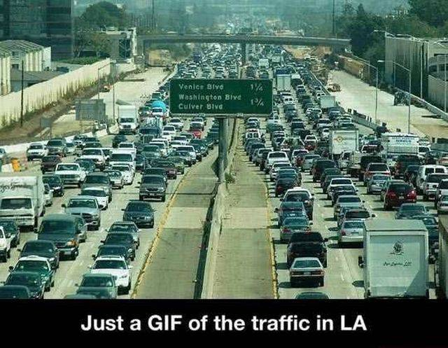 Animated GIF of L.A. traffic.