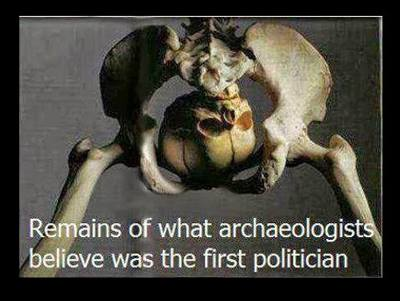 Archaeologists have uncovered the remains of what they believe to be the world's first Politician.