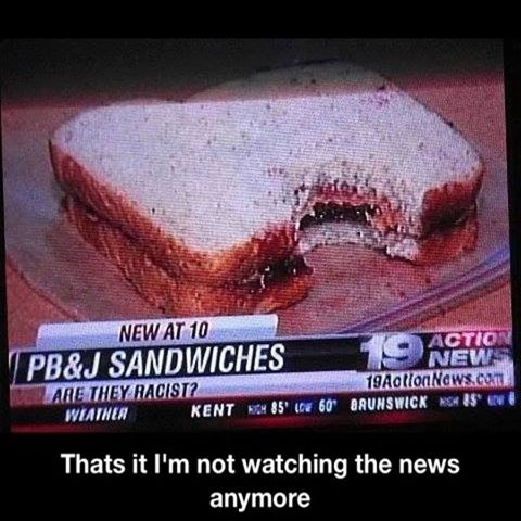 Are peanut butter and jelly sandwiches racist?