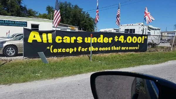 At Least This Used Car Dealer Is Honest.