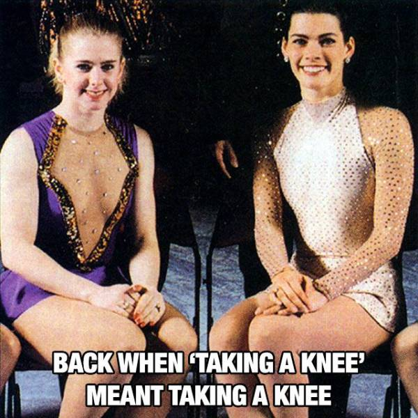 Back when 'taking a knee' meant taking a knee.