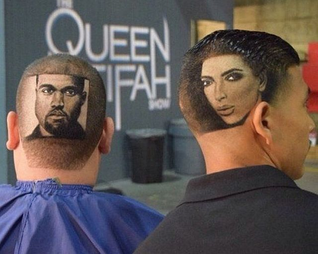 Barber Art Featuring Kim Kardashian And Kanye West.