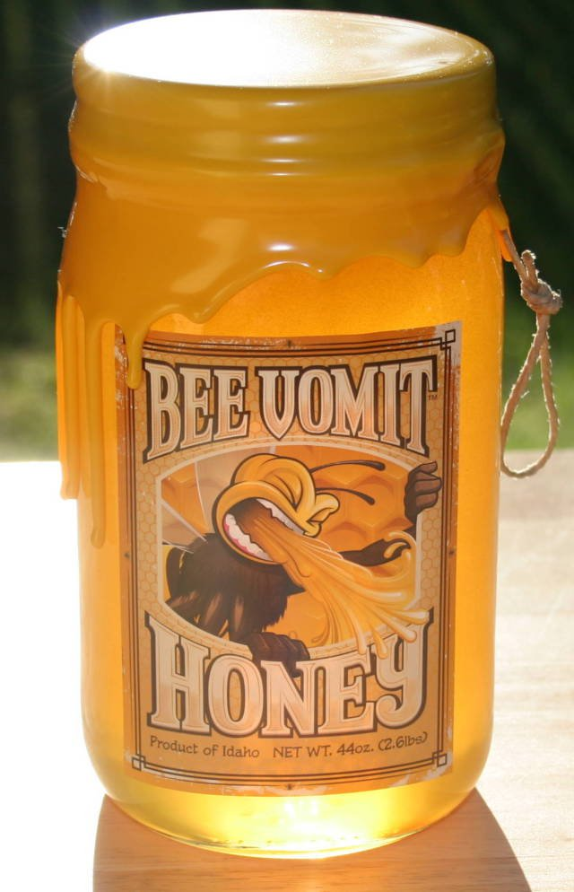Bee Vomit Honey. Nice to see some truth in advertising.