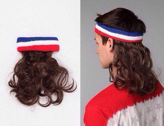Billy Ray Cyrus fans will love this mullet headband.