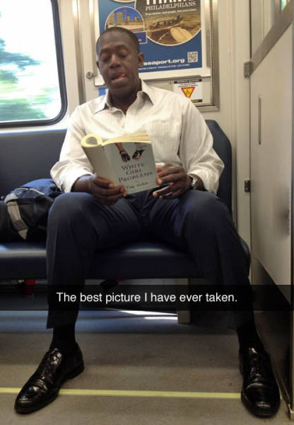 Valuable information black man reading congratulate