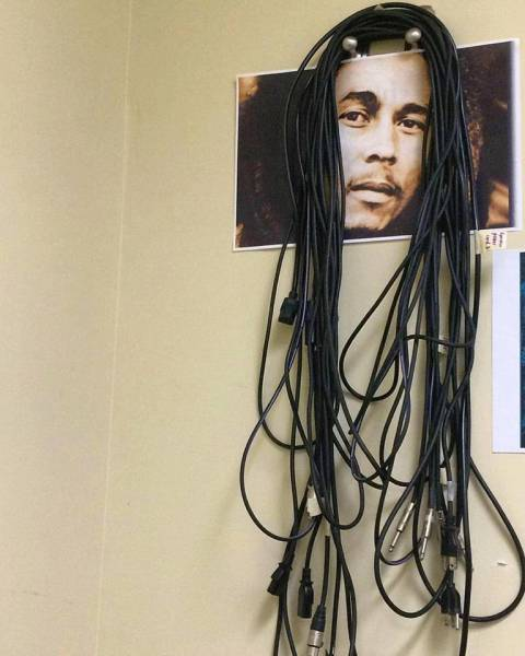Bob Marley cable hanger.