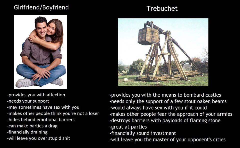 Girlfriend/Boyfriend vs Trebuchet