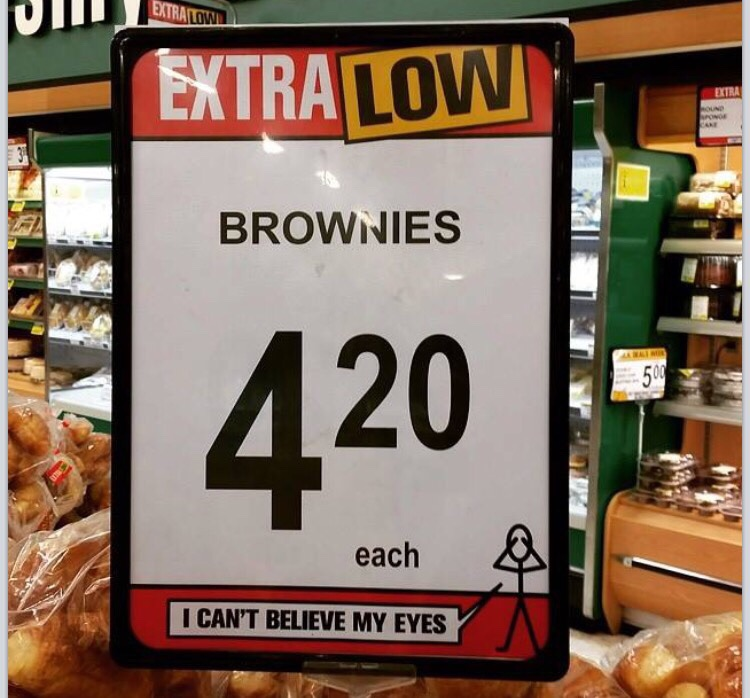 Brownies for $4.20? Secret message or just a coincidence?