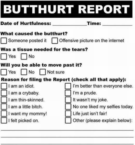 Butthurt report.
