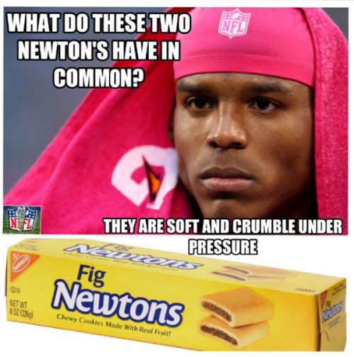 Cam Newton and Fig Newtons have a lot in common.