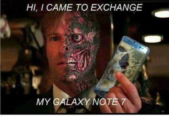 Came to exchange my Samsung Galaxy Note 7.