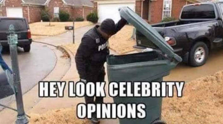 Celebrity opinions.