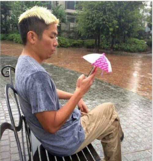 You don't need an umbrella, but your smartphone does.