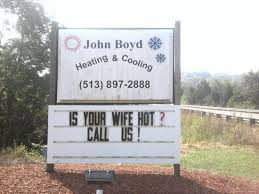Clever sign. I wonder how many calls they received?