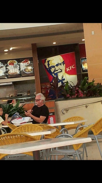 Colonel Sanders spotted at KFC.