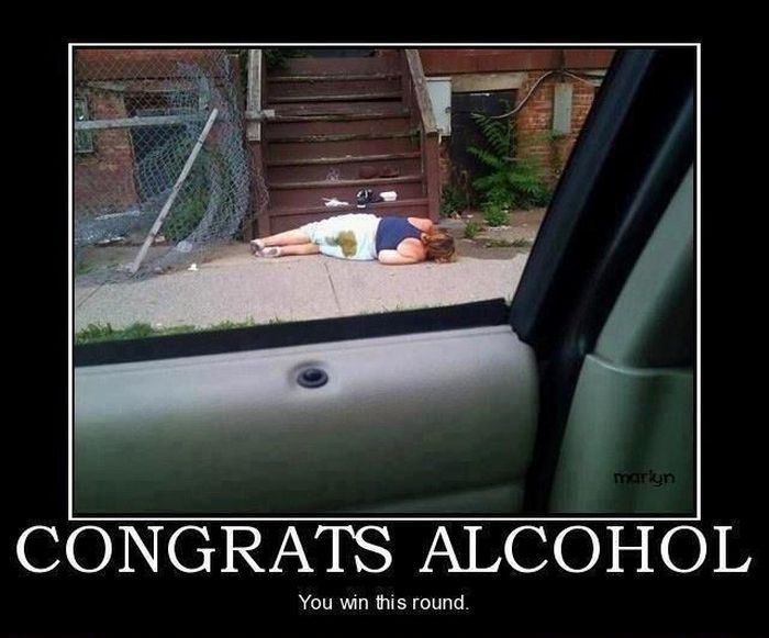 Congrats alcohol. You win this round.