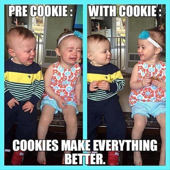 Cookies make everything better.