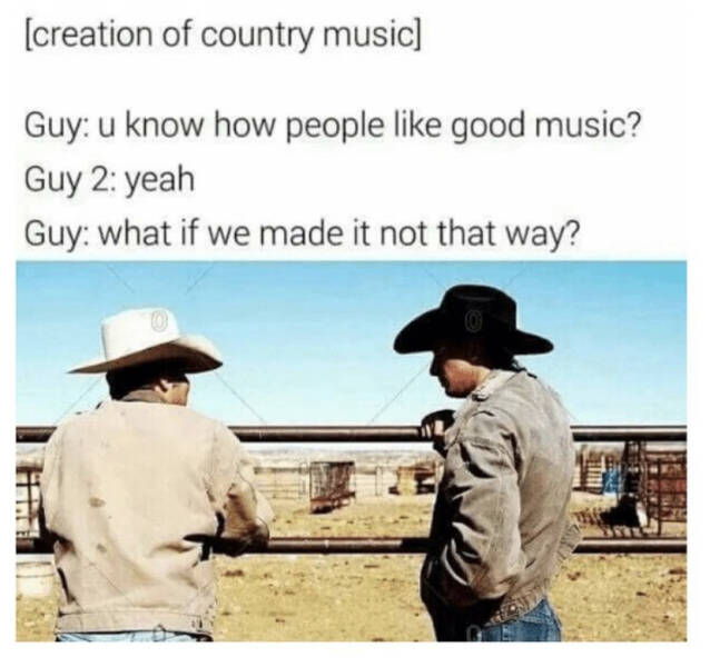 Creation of country music.