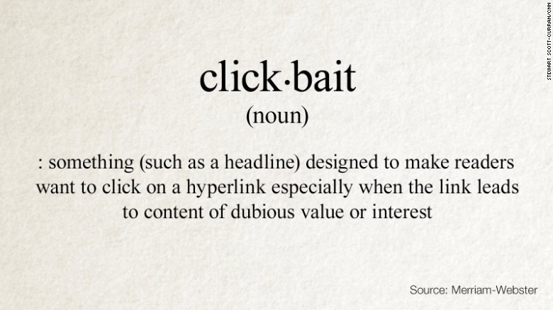 The word 'Click-Bait' has been added to the dictionary. Now if people actually read the dictionary they wouldn't click those crappy bogus links.