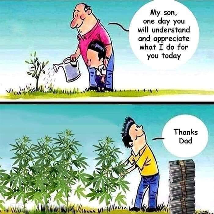 Dad teaches son a valuable lesson about marijuana.
