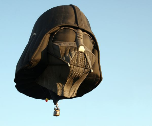 Darth Vader hot air balloon is bad ass.