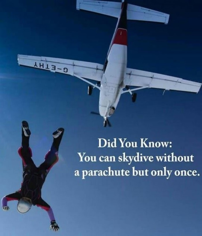 Did you know this one very important fact about skydiving?