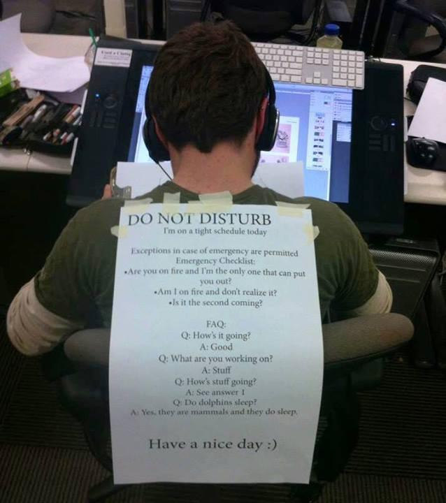 Do Not Disturb This Guy He Is On A Tight Schedule