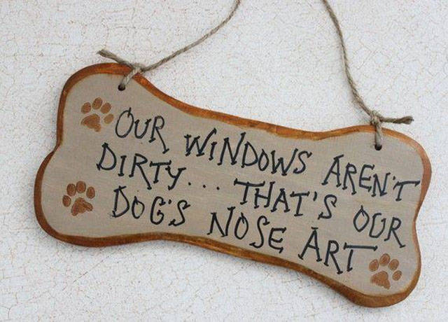 Dog nose art.