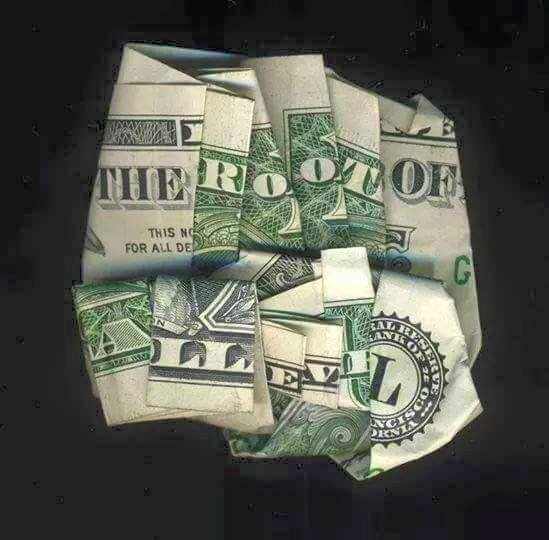 Dollar bill folded the right way will reveal the truth.