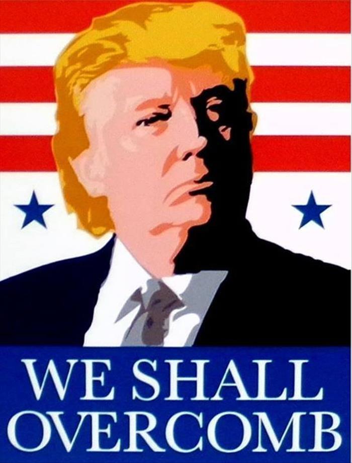Funny Vote Trump Meme : Donald trump we shall overcomb realfunny