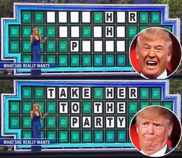 Donald Trump is not very good at Wheel of Fortune.