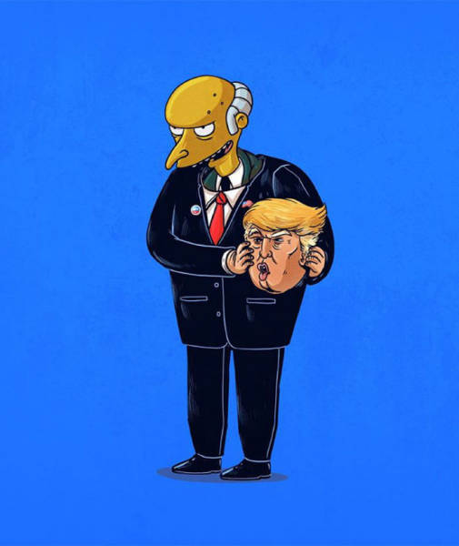 Donald Trump is really Mr. Burns in disguise.