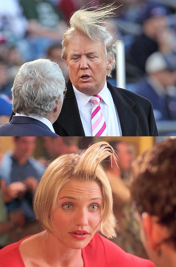 Donald Trump vs. Cameron Diaz in the film 'There's Something About Mary.' Who wore it better?