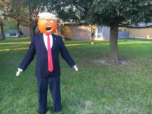 Donald Trumpkin is ready for Halloween.