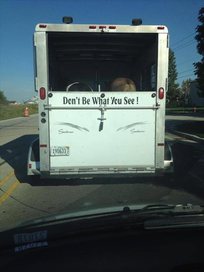 Don't be what you see!