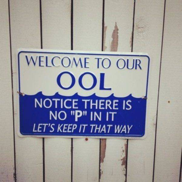 Don't pee in the pool.