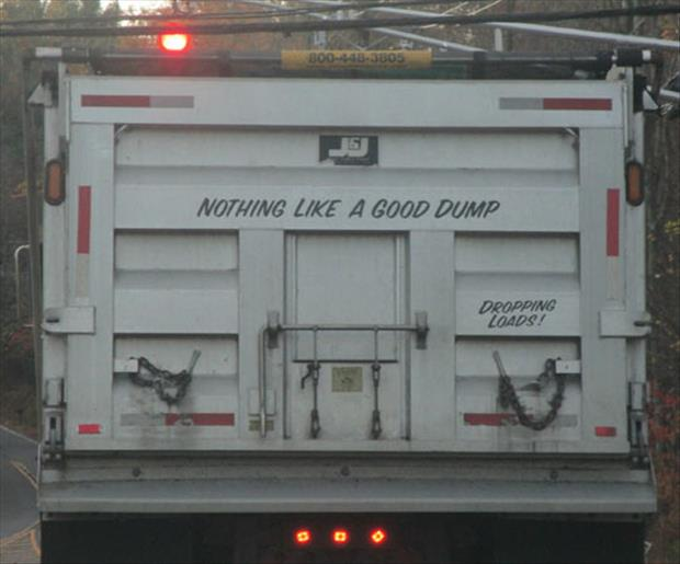 Dump truck driver loves his job and he is not afraid to tell the world how he feels.